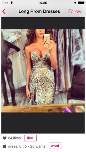 dress prom dress silver dress sparkling dress beautiful pretty