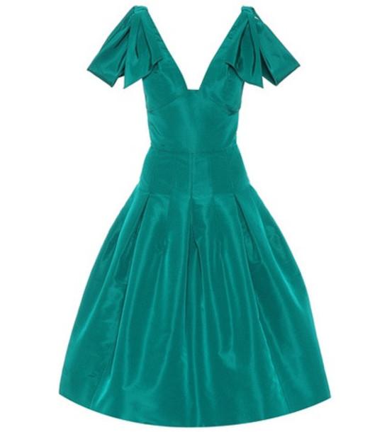 Oscar de la Renta Silk dress in green