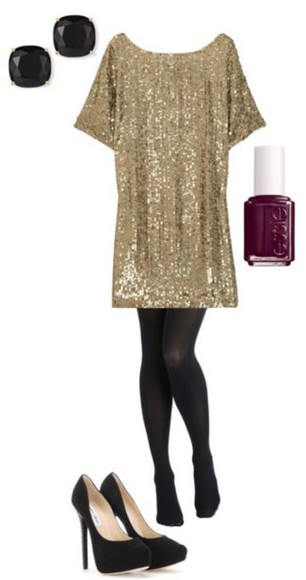 dress cute pretty sparkly gold shiny party dress kawaii grunge