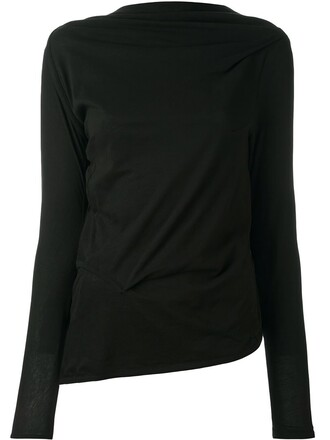 top draped black