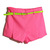 With Belt Fluorescent Rose Shorts [NCSPM0259] - $26.99 :