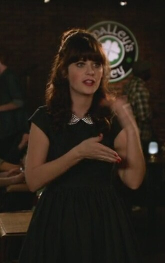 dress denim new girl jessica day zooey deschanel