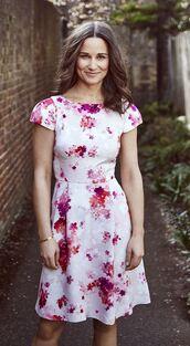 dress,floral,floral dress,pippa middleton