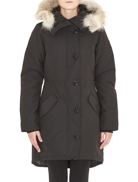 canada goose parka black coat