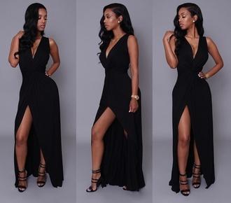 dress black prom black dress maxi dress blaxk dress long prom dress prom dress long dress sexy black dress