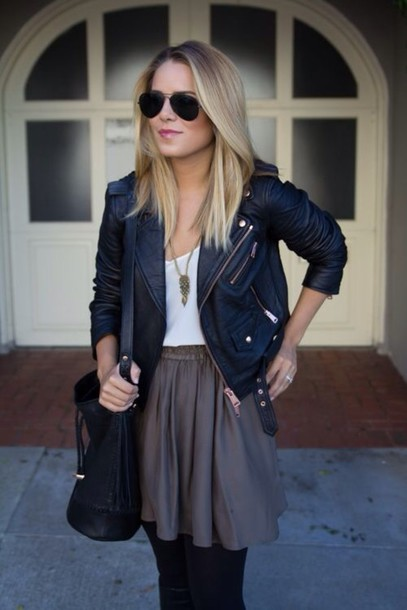 jacket skirt pretty fall outfits clothes fashion clothes perfect outfit nice cute sexy brown skirt short skirts