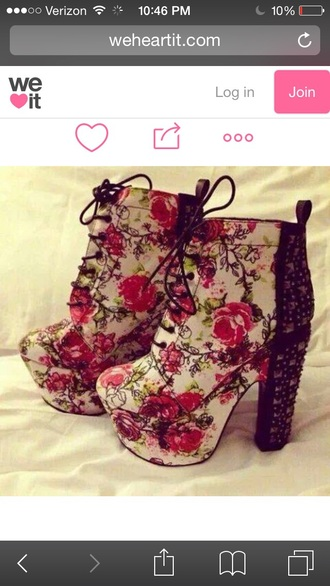 shoes heels high heels floral floral shoes studs