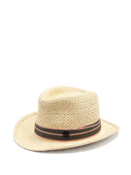 MAISON MICHEL Rio straw hat in beige / beige