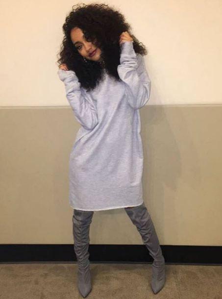 dress grey grey dress sweater dress leighanne pinnock