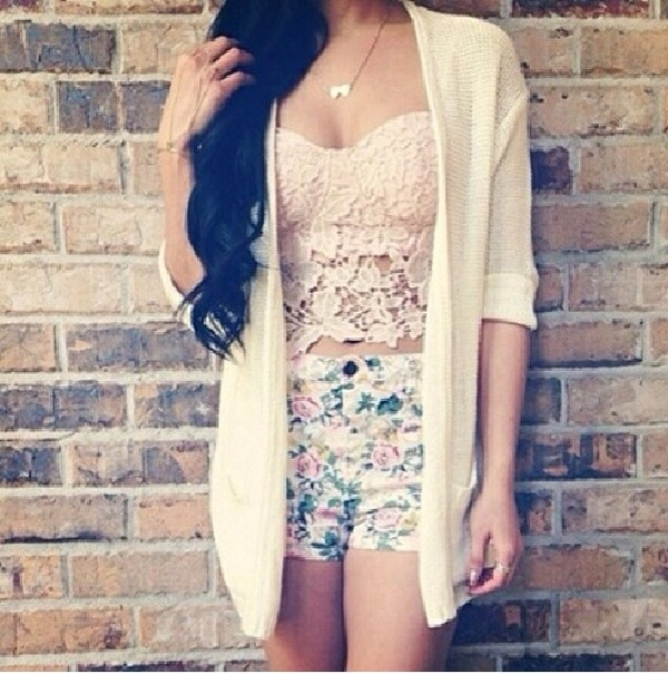 tank top jacket shorts shirt pink lace crochet strapless tube top crop tops floral bralette