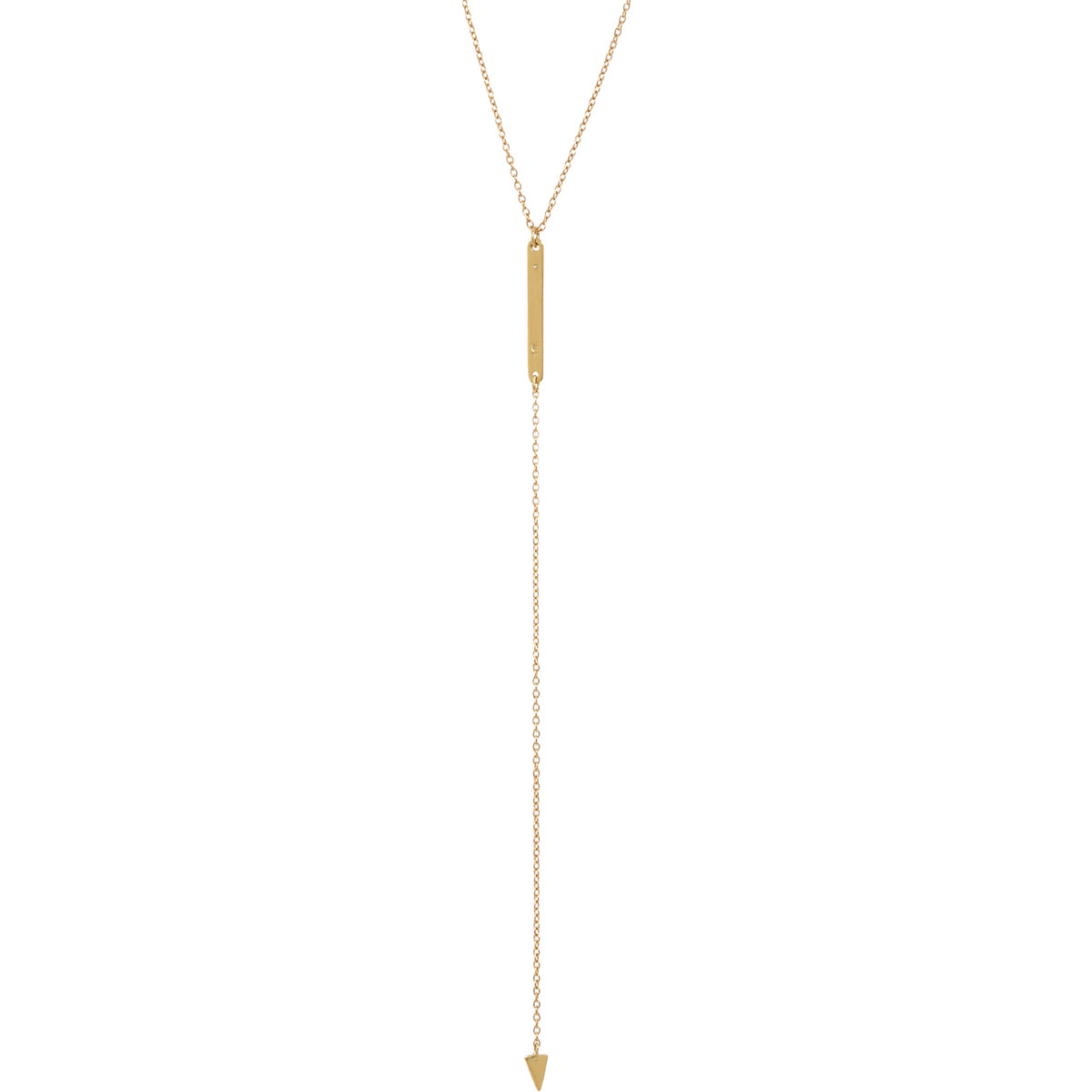 Loren Stewart Diamond Baby Bar & Arrow Drop Necklace at Barneys.com