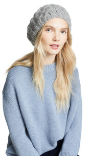 hat,beret,light,grey