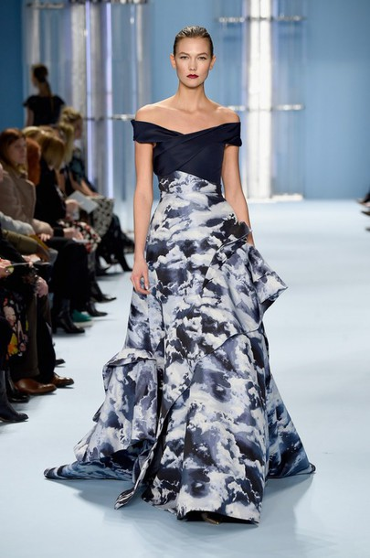 dress karlie kloss fashion week 2015 gown
