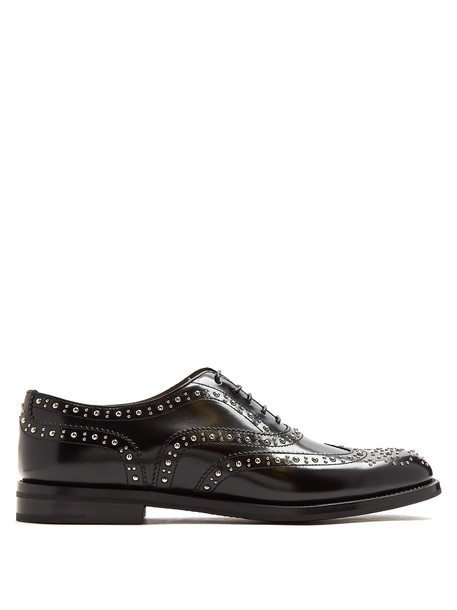 Church's embellished leather black shoes