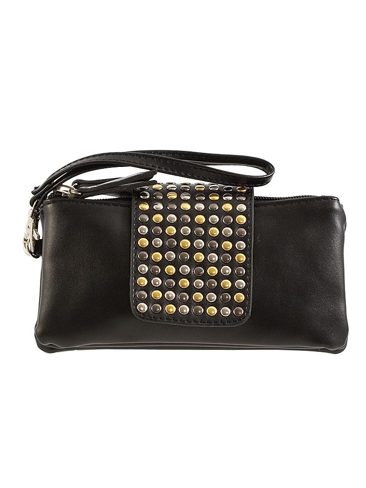Button stud flap over double pocket wallet – lilypop boutique