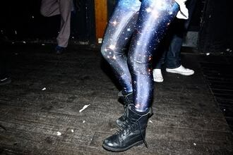 galaxy print leggings skinny pants pants black milk shoes tights
