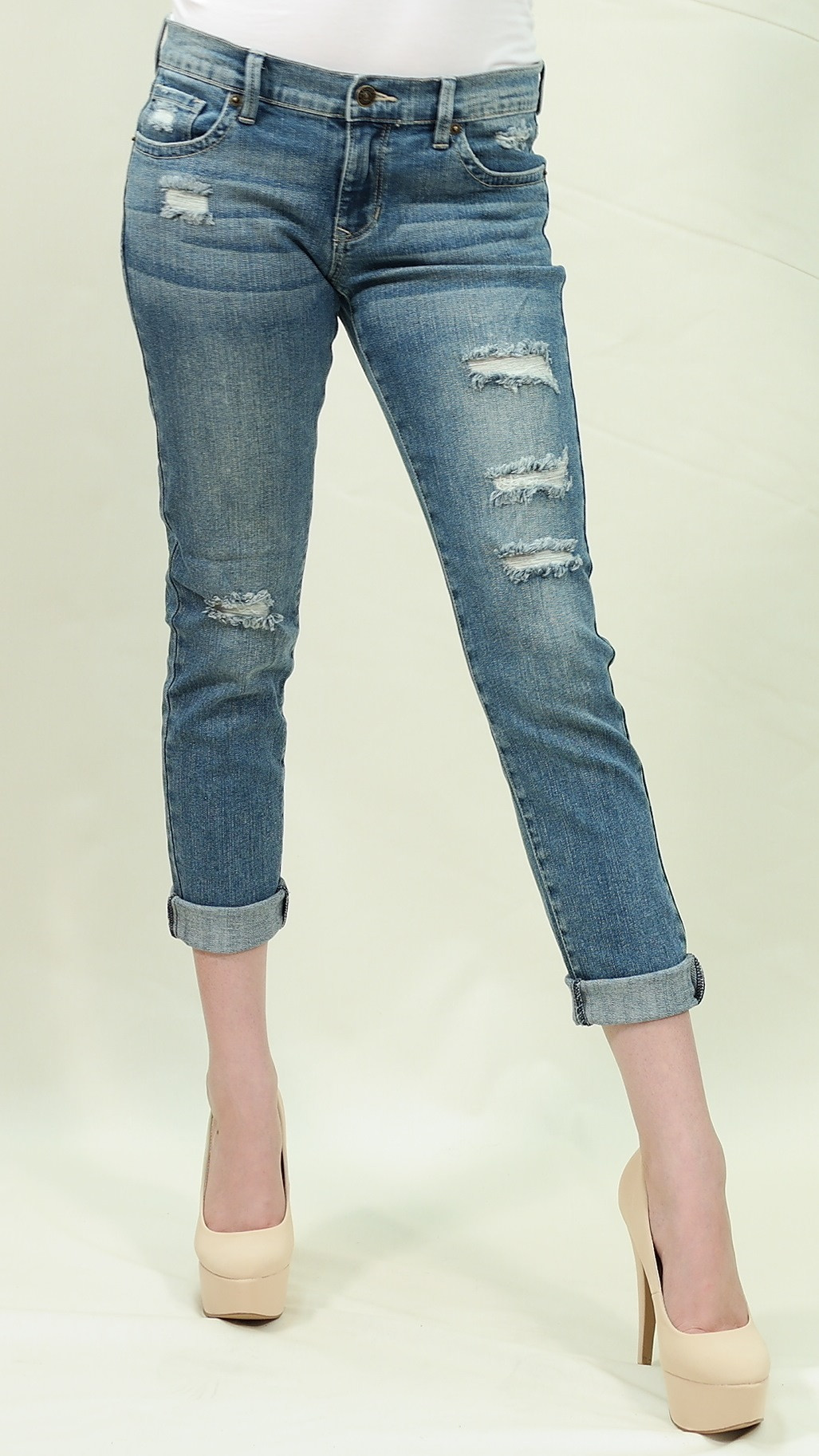 slim skinny crop jeans Just USA
