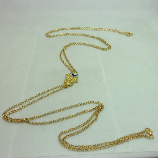 New Hot Rihanna Style Bikini Crossover Body Belly Harness Cable Chain Necklace Chinese jewelry gift girls women,JP072711-in Chain Necklaces from Jewelry on Aliexpress.com