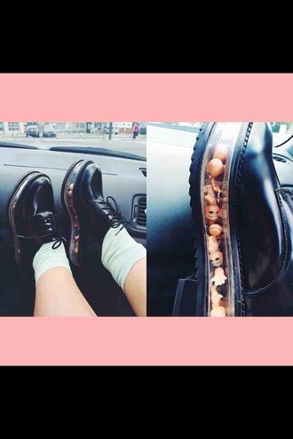 shoes grunge kawaii flatforms melanie martinez cool wow hella cute platform shoes dolls shoes black grunge flat black derbies