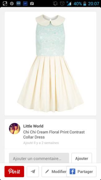 col claudine blue dress white dress bleu robe