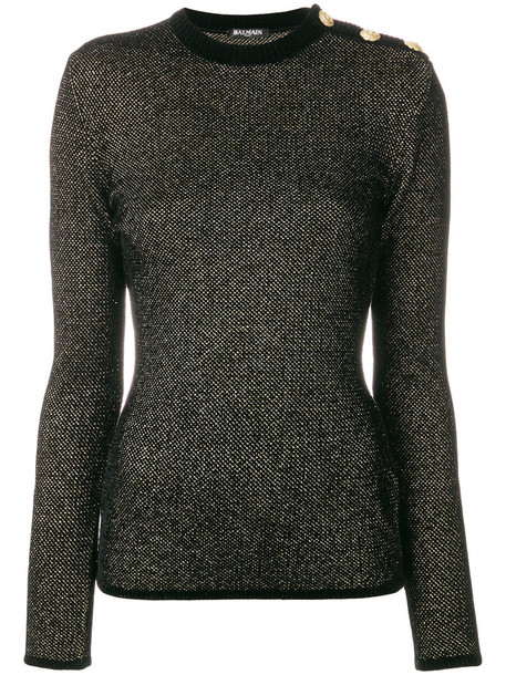 Balmain jumper women embellished black sweater