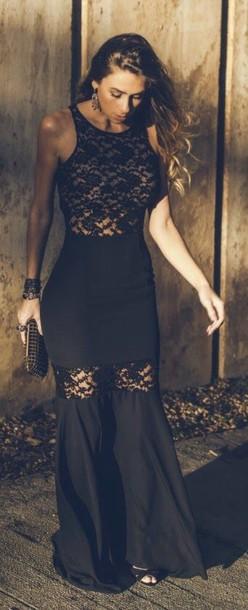 dress black dress lace prom dress prom long dress black prom dress black maxi dress long prom dress nail accessories