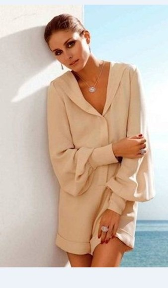 nude jumpsuit olivia palermo. olivia palermo orange dress