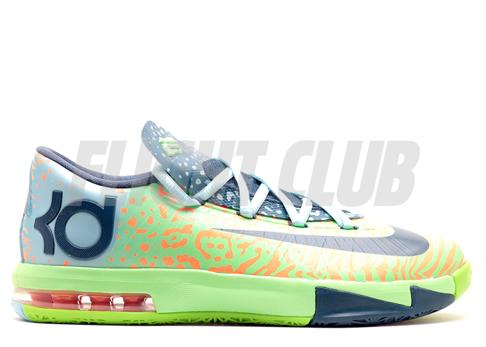 "kd 6 (gs) ""liger"" - elctrc grn/nght fctr-atmc orng - Kevin Durant - Nike Basketball - Nike  