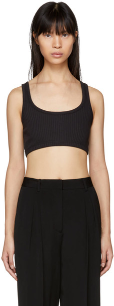 T by Alexander Wang top bra top black