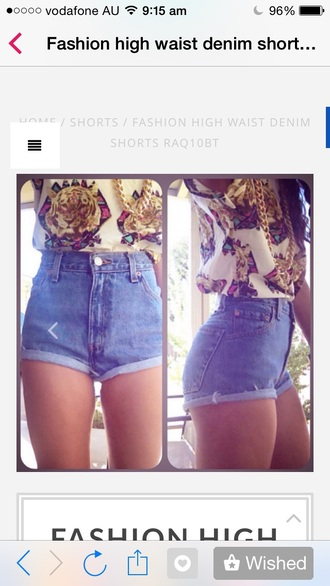 shorts denim high waisted