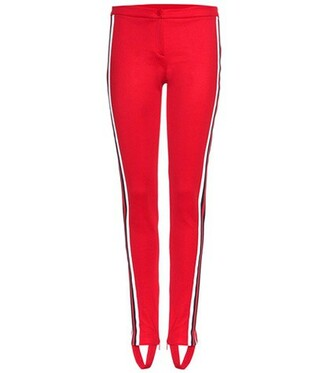 cotton red pants