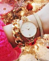 jewels,mvmt watches,mvmt,accessories,Accessory,jewelry,gold watch,bracelets,gold bracelet