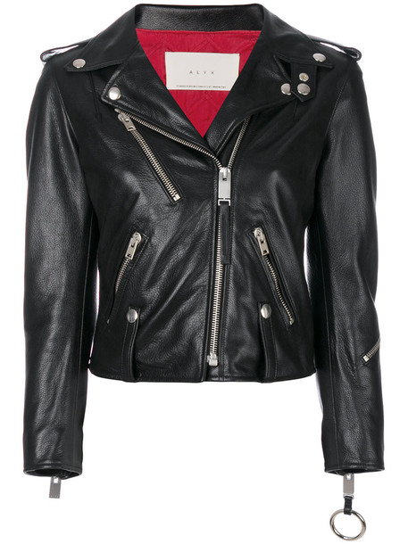 Alyx jacket women leather cotton black