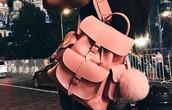 bag,backpack,pink,ball,baby pink,sweet,cute