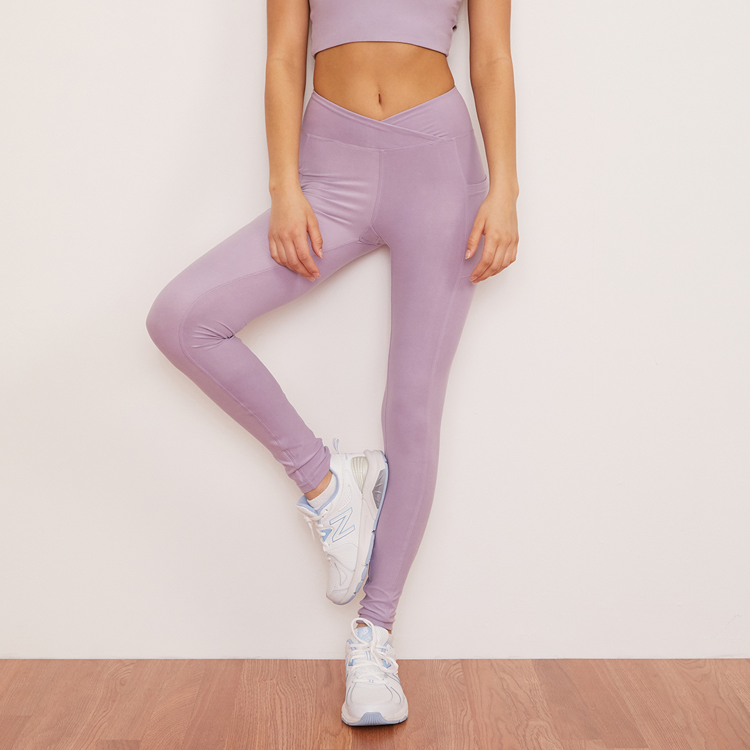 Lavender Crossover Pocket Legging