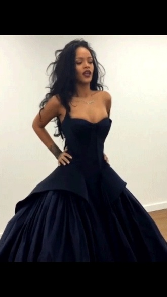 rihanna gown dress black dress black navy velvet dress goth formal dress wedding dress gothic lolita ball gown dress princess dress