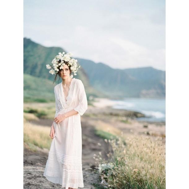 dress summer a-line wedding dresses ivory dress floor length dress appliques