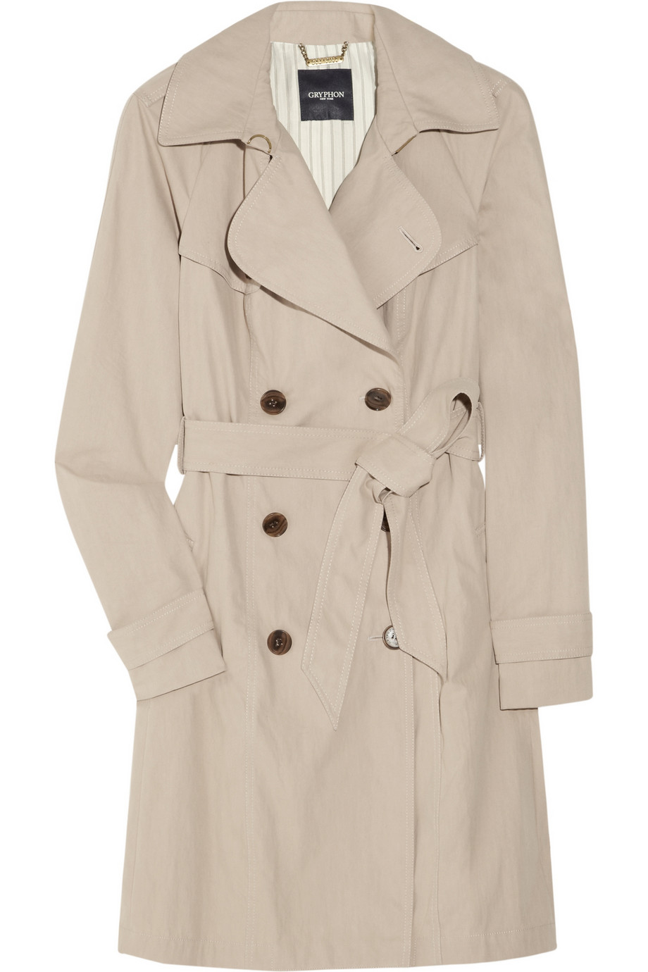 Pleated cotton-blend trench coat | Gryphon | 85% off | THE OUTNET