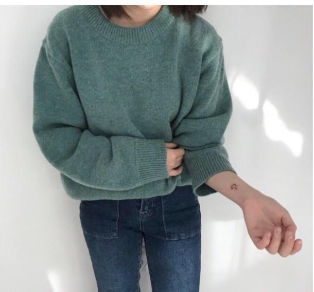 sweater girly sweatshirt jumper pullover knitwear knit knitted sweater