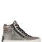 40mm metallic leather high top sneakers