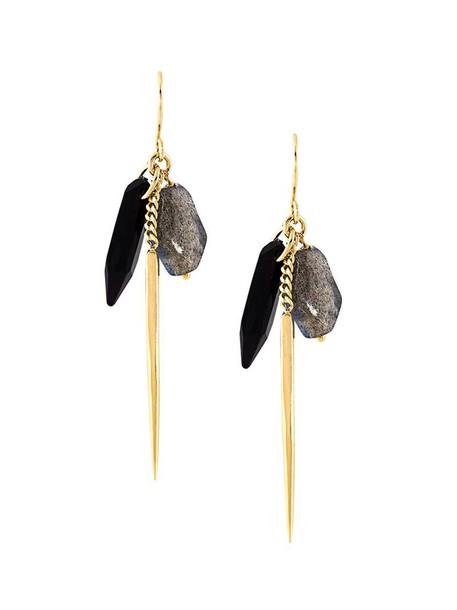 Wouters & Hendrix women earrings gold silver grey metallic jewels