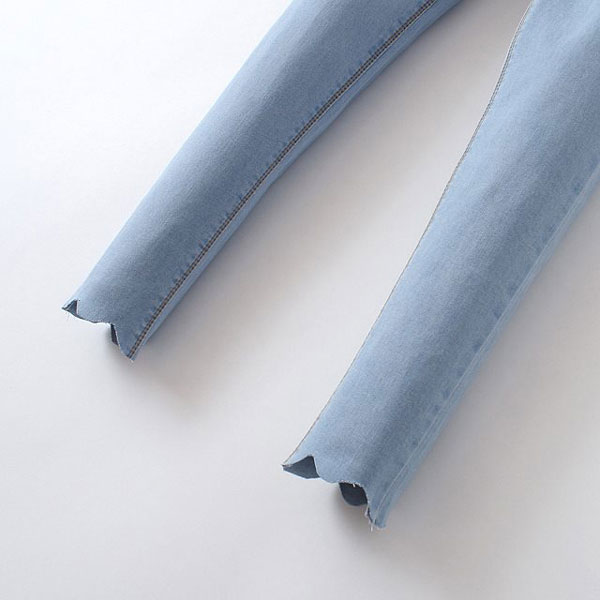 Slim Wave Edge of High Waist Jean [DLN0802] - PersunMall.com