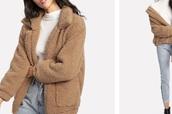 coat,teddy bear coat,tan,beige,trendy,style,instagram,fashion,cool