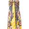 Roberto cavalli - halterneck flared printed dress - women - viscose - 44, yellow/orange, viscose