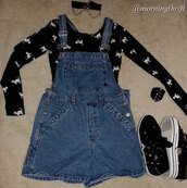 romper,90s style,overalls,grunge