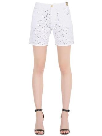 shorts denim shorts denim cotton white