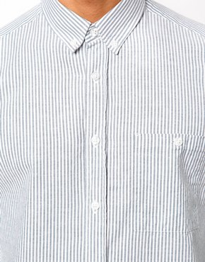 ASOS | ASOS Oxford Shirt in Long Sleeve with Ticking Stripe at ASOS