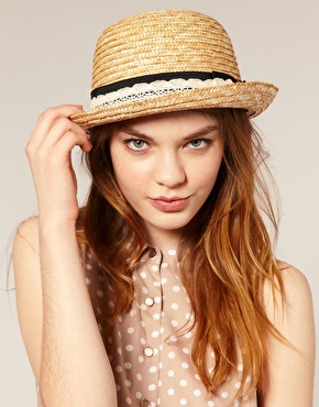 Asos straw roll brim boater at asos