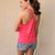 Pink Tank Top - Twist Racerback Pocket Tank (Pink) | UsTrendy