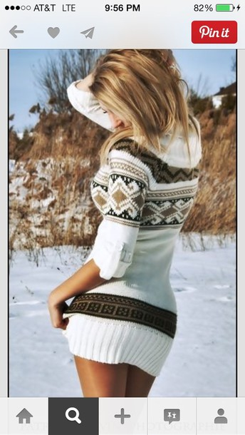 dress sweater cute sweater brown white ikat sweater dress sweater dress set knitwear sweater dress nordic